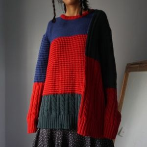 Urban Outfitters Color Black Patchwork Sweater XL